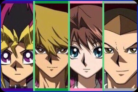 The Classic Yu-Gi-Oh! Gang Headshots (The Dark Side Of Dimensions). #yugioh…