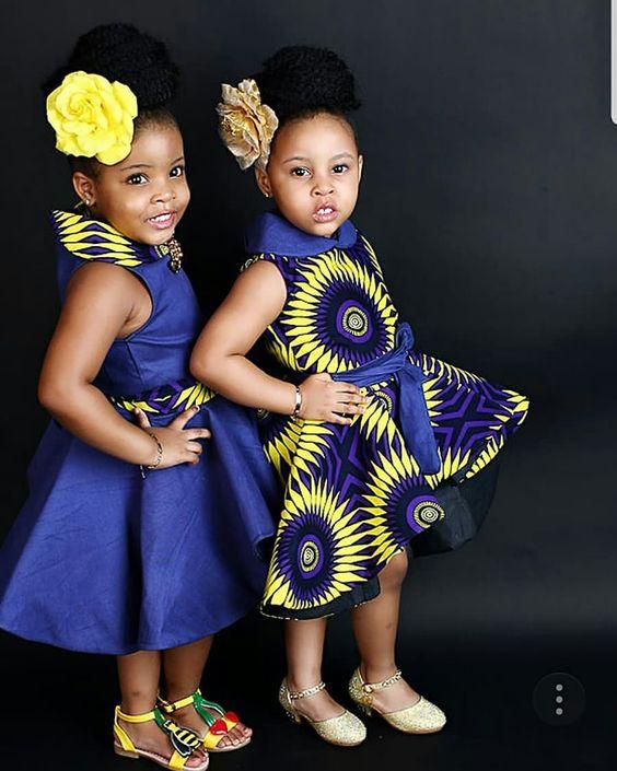 👗 Kiddies style inspiration 👗 💜💙💛 . . . . . . . . . . . . . . . . . . . . . . . . . . . @theunidenticalduo  #AnkaraExclusiveafrica…