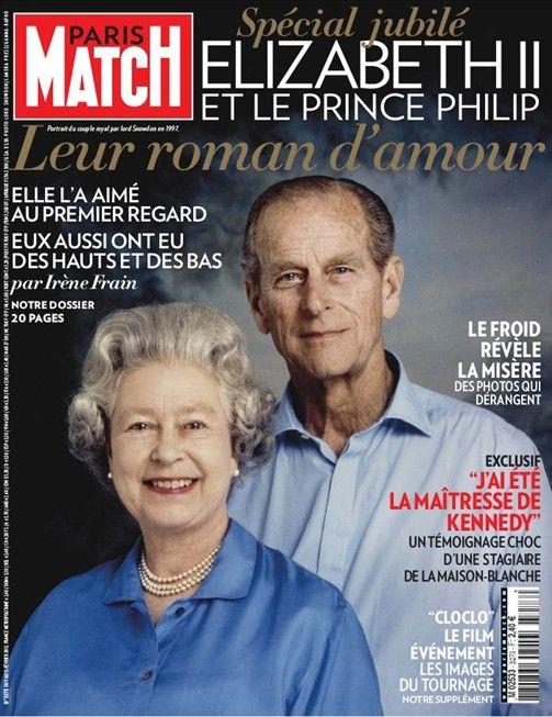 Elizabeth II et le Prince Philip, un roman d'amour à découvrir en cliquant sur l'image.