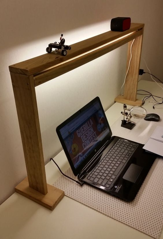 construct a work bench quotlight shelf and power boxquot in one which
