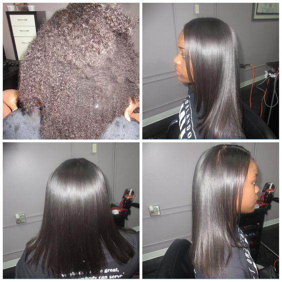 Dominican Blowout On Natural Black Hair Before And After