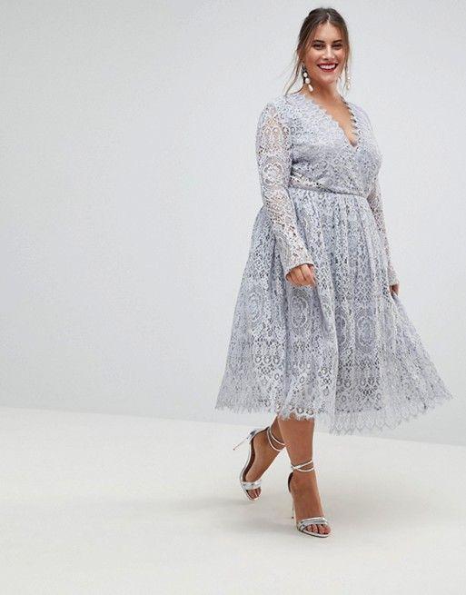 Asos Curve Asos Curve Long Sleeve Lace Midi Prom Dress Bridesmaid Dresses Plus Size Plus Size Prom Dresses Plus Size Prom