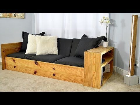 This Attractive Sofa Bed Is Ideal For Everyday Use And Convenient For Any Time You Have An Overnight Guest The Exposed Souther Diy Sofa Bed Diy Sofa Diy Couch