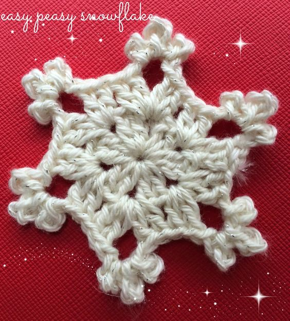 Crochet Snowflake Patterns Free Easy : Easy Peasy Snowflake - Free Pattern CROCHET Pinterest ...