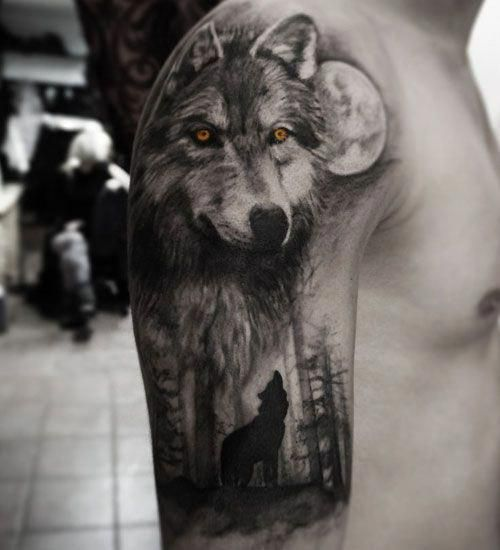 Wolf Half Sleeve Tattoo Best Wolf Tattoos For Men Cool Wolf Tattoo Designs And Ideas For Guys H Wolf Tattoo Sleeve Wolf Tattoos Men Wolf Tattoos For Women