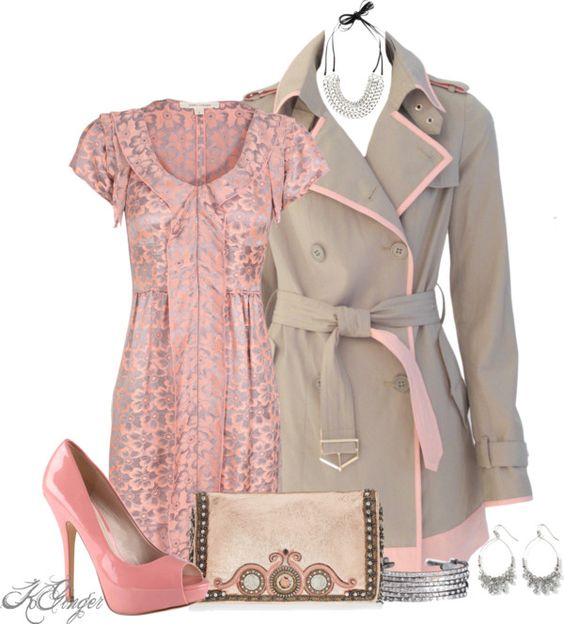 """Pink and Gray Contest"" by kginger on Polyvore."