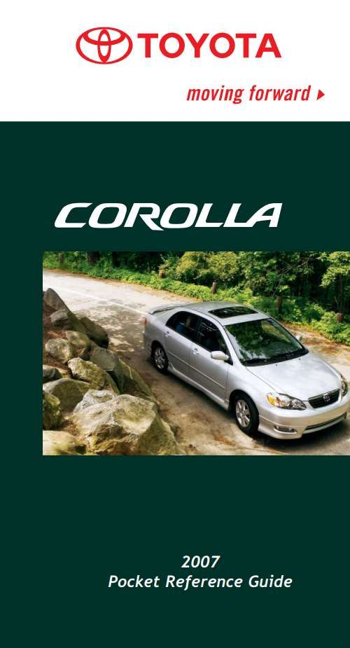 Toyota Corolla 2007 Owner S Manual Has Been Published On Procarmanuals Com Https Procarmanuals Com Toyota Corolla 2007 Ow Toyota Corolla Corolla 2007 Corolla