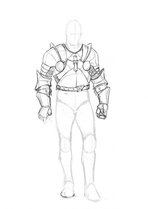 44+ Knight sketch information