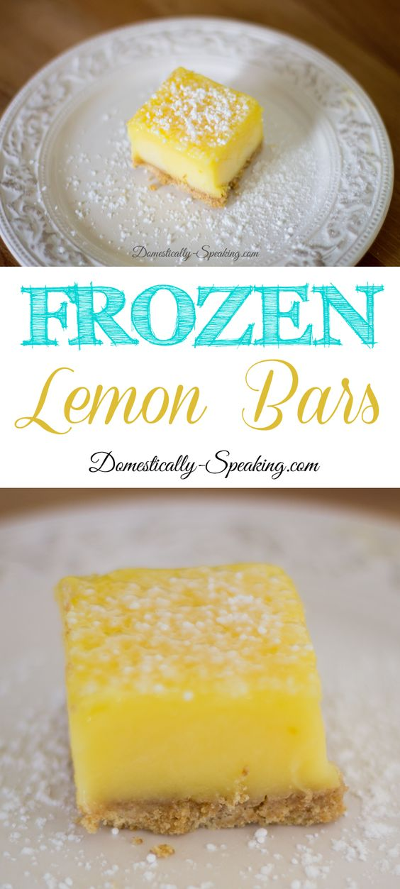 Lemon bars, Easy no bake desserts and No bake desserts on Pinterest
