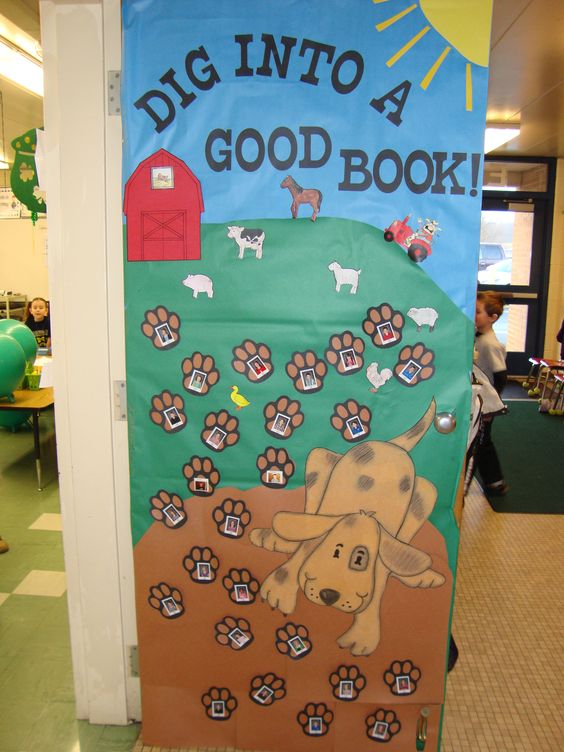 Classroom Decorations For March ~ Reading classroom doors decorated their door