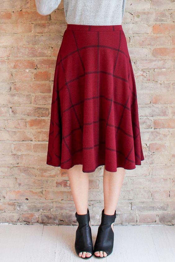 Ainsley Midi Skirt | Glamour and Glow