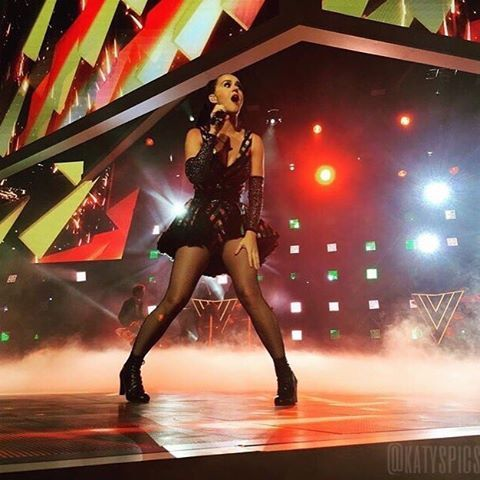 Katy performing at #WalmartShares