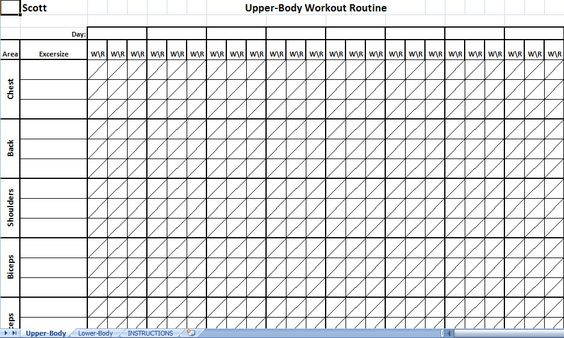 Printable Workout Log Projects to Try Pinterest Workout log - workout tracking sheet
