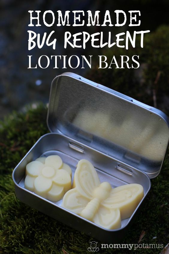 Homemade Bug Repellent Lotion Bars - If you're planning to spend time outdoors this spring/summer, you'll want to take these bug repellent lotion bars along with you. They nourish skin and are perfect for travel because they don't leak like sprays.