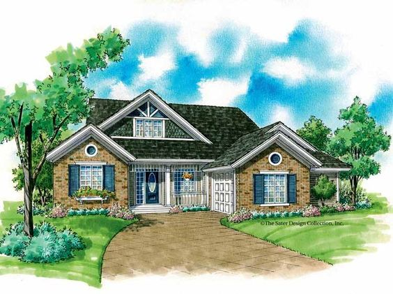 Eplans Country House Plan Engaging Facade 1487 Square