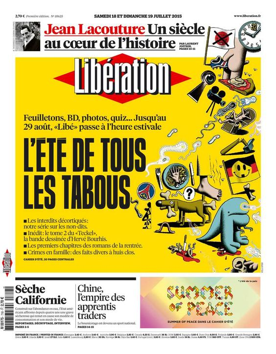 Libération - Samedi 18 Juillet 2015 - N° 10625