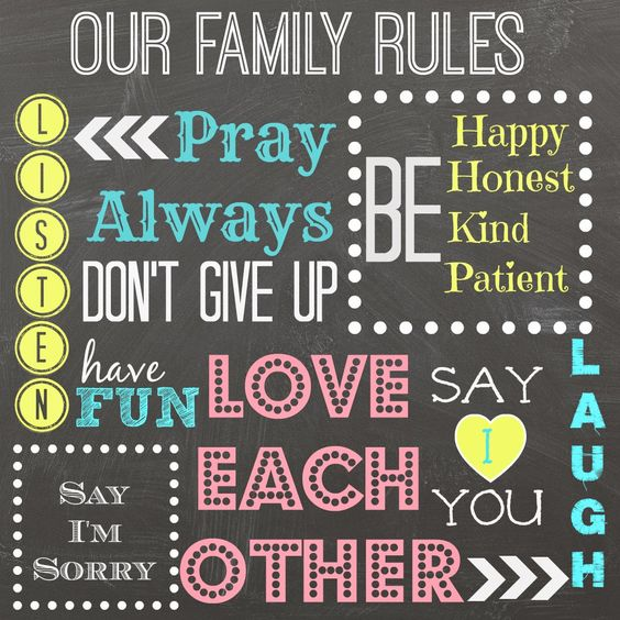 Family Rules Free Printable Mimileeprintables Lds