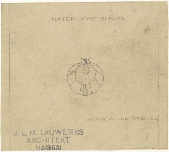 Mathieu Lauweriks | Ontwerp voor een broche, Mathieu Lauweriks, 1914 | Ontwerp voor een sieraad.