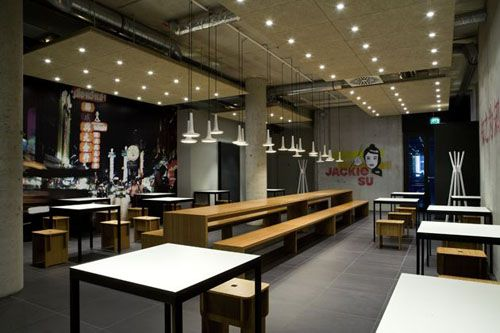 Chinese Restaurant With Long Chair And Table Left Equipped With Small Lamps  And White Table Design Idea   Restaurant   Pinterest   Small Lamps, ...