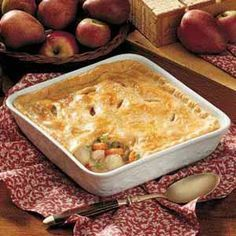 Pheasant Potpie for the pheasant from Preston's hunting trip
