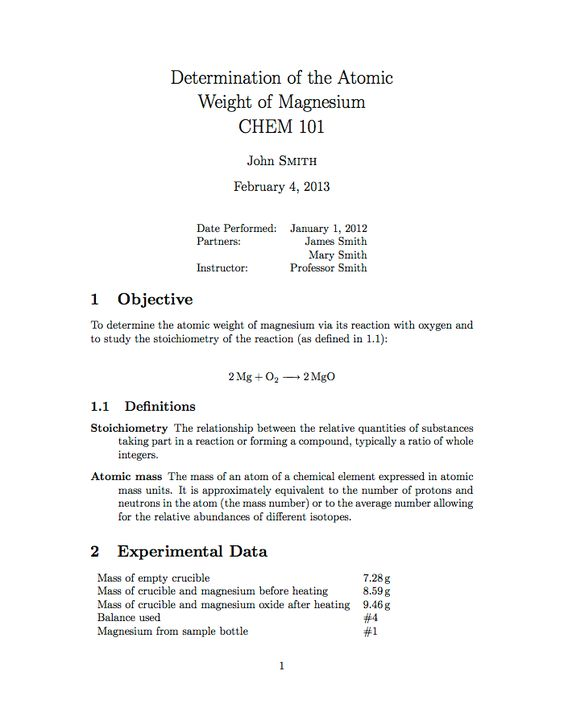 The 25+ best Latex report template ideas on Pinterest A4esl org - construction report sample