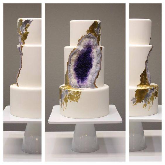 Geode Wedding Cake - amazing wedding cake. #Imgur