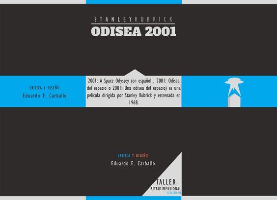 Portada Frontal de Brochure / Odisea 2001 / Diseño Especial de Historia y Evaluación personal a la pelicula