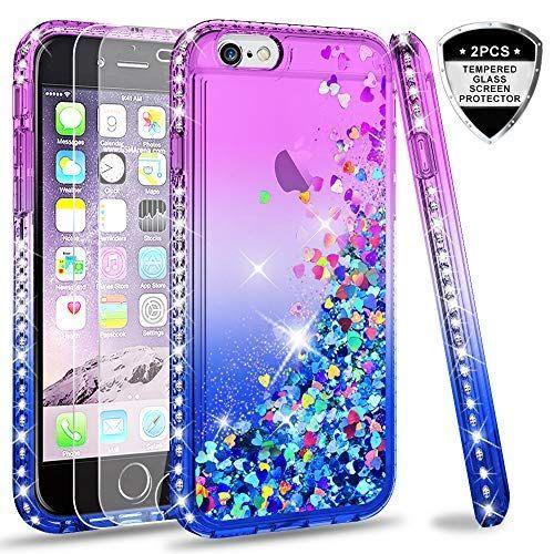 LeYi Coque pour iPhone 6 / iPhone 6S Verre Trempé [Lot de 2] Fille ...
