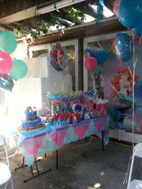The little Mermaid theme party