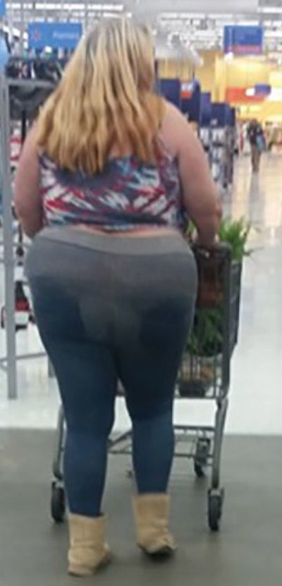 Boots and Yoga Pants at Walmart - Funny Pictures at Walmart