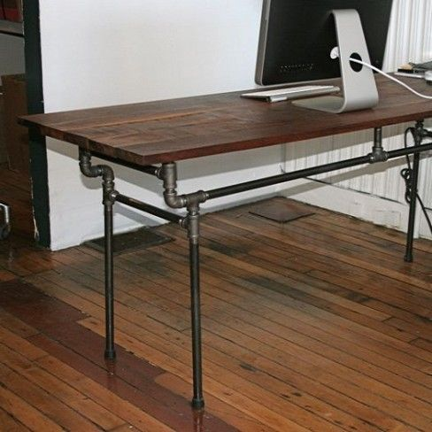Diy computer desk desk chairs and offices on pinterest for Easy diy desk
