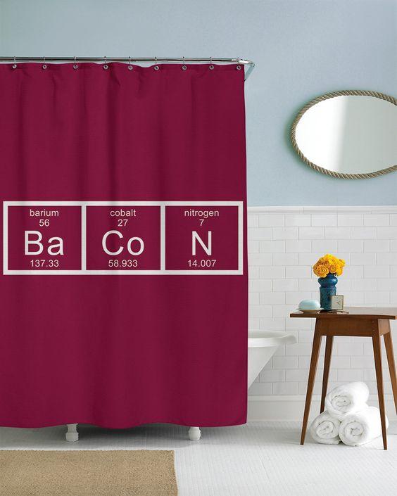 Curtains Ideas chemistry shower curtain : Chemistry, Curtains and Bacon on Pinterest