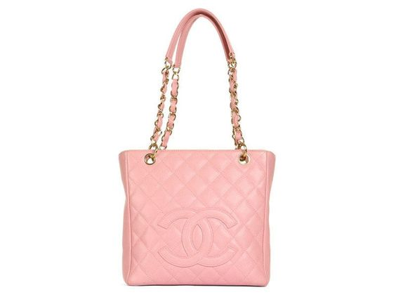 Chanel Pink Caviar PST Petite Shopper Tote Bag