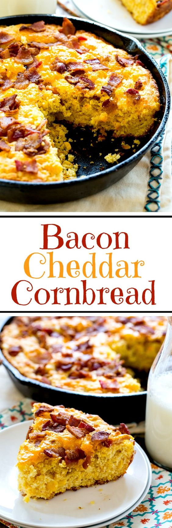 Bacon Cheddar Cornbread has a irresistible salty, smokey flavor with ...