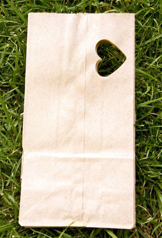 Favor Bag Kraft Paper Bag Rustic Wedding Favor Bag by SierraBliss