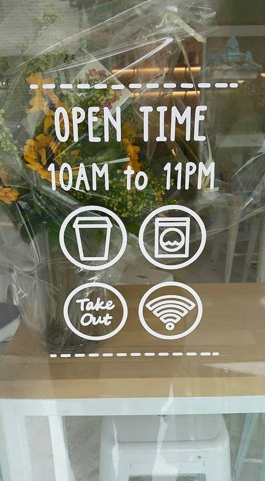 Signage Graphic Design LaundryProject Seoul Laundromat Bar Cafe Wifi Take Out