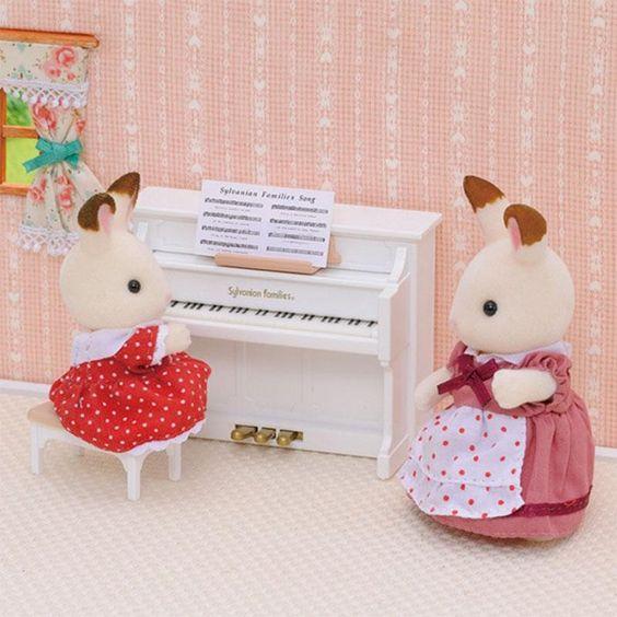 Set piano y taburete - Sylvanian Families