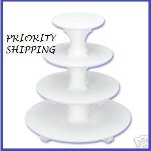 4 Tier Cupcake Cake Tree Stand Tray Wedding Dessert Priority Shipping   eBay