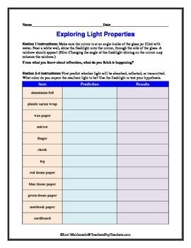 Worksheets Properties Of Light Worksheet free worksheets library download and print on novee org