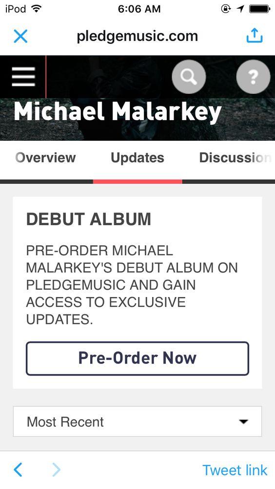 Michael Malarkey's new album 🙏🏻