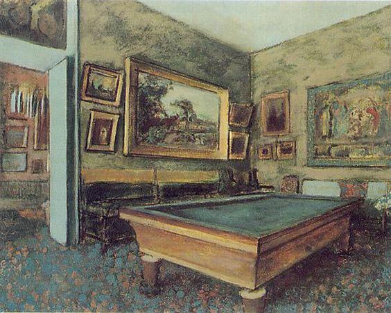 """Sala de Bilhar"" - Edgar Degas"