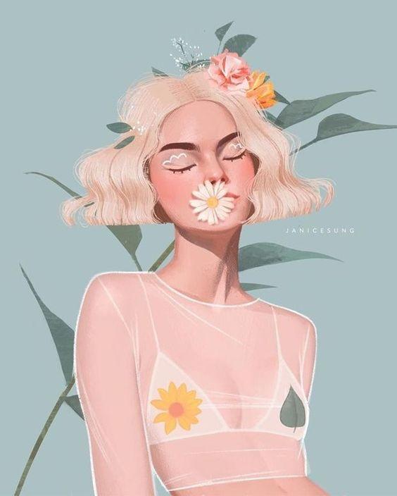 As ilustrações inspiradoras de Janice Sung