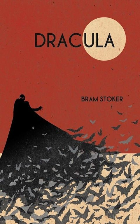 Dracula by Bram Stoker | Horror book covers, Dracula book, Book cover  illustration
