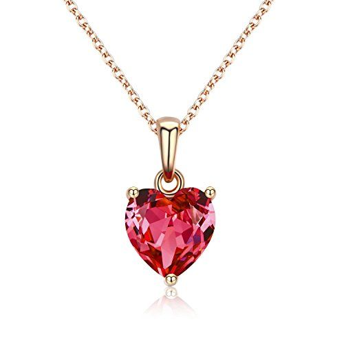 1 Ct 14K or Blanc Collier Natural Ruby