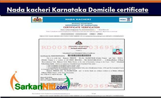 Residency Certificate Pdf