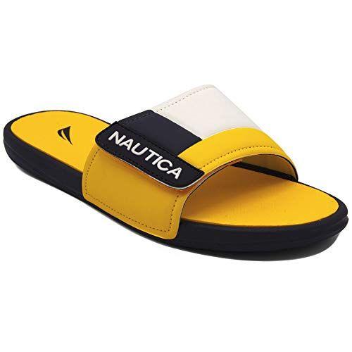 Nautica Men's Athletic Slide, Adjustable Straps Comfort Sandal-Bower  Nautica | Sneakers men fashion, Mens slippers, Slide sandals