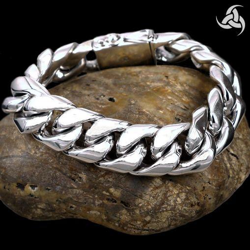 Mens Biker Curb Link Bracelet Dragon Soul Jewelry
