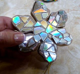 Make it easy crafts: Recycled CD snowflake ornament