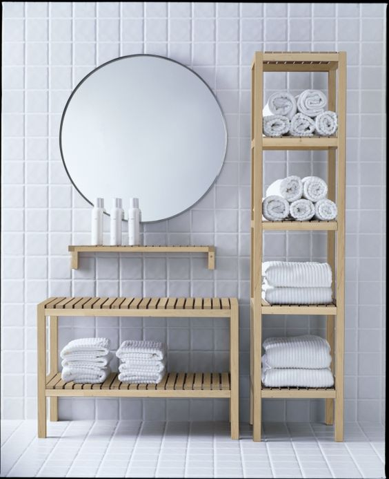 The MOLGER series is bath furniture that