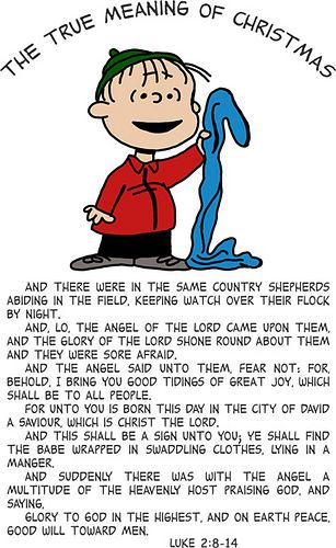 A Charlie Brown Christmas: Tonight! 11/28. ABC. 8/7Central. Favorite Moments? - Linus Explains the true meaning of Christmas - Grupthink: